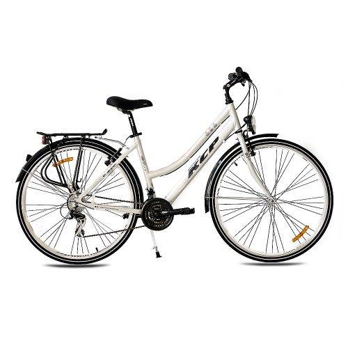 """KCP 28"""" CITYBIKE Damen Fahrrad ARA ALU mit 21 Gang Shimano Tourney Weiss - 71,1 cm (28 Zoll)"""