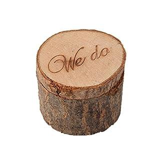 aihome Hochzeit Ring Box Holz Gravur Holz Ring Box für BEARE Hochzeit Geschenke Brautschmuck Dusche Geschenke für Paare a