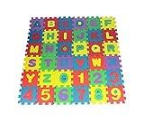 koobea Puzzle Tapis bébé en Mousse Dalles en Mousse Tapis de Jeu Lettres Chiffres...