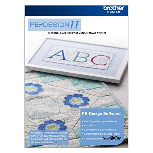 Brother PE-Design 11 (Vollversion): Die vielseitige Software für die Digitalisierung von Stick- und Nähprojekten (Stickerei-design-software)