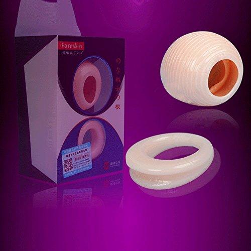 VANKER 2pcs / set juguete del sexo de la Salud Día Noche Hombres Protección del prepucio del pene del anillo del martillo de la manga