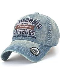 ililily Washed Cotton Denim Vintage Trucker Hat Casual Baseball Cap