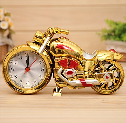 NAO&ZH Goldene motorrad wecker kreative faule niedlichen persönlichkeit kinder wecker nachttischuhr