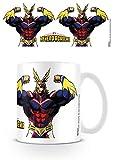 1art1 Set: My Hero Academia, all Might Flex Tazza da caffè Mug (9x8 cm) E 1 Sticker Sorpresa