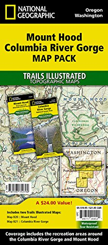 Mount Hood, Columbia River Gorge [map Pack Bundle] (National Geographic Trails Illustrated Map) por National Geographic Maps - Trails Illust