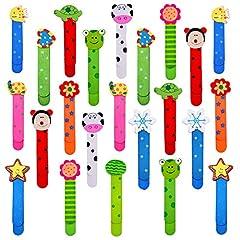 Idea Regalo - 30pz Animali Segnalibro Bambini Fumetto Colorati Carini Divertenti in Legno Regalino Gadget Festa Compleanno Bambini per Bomboniera Battesimo Natale