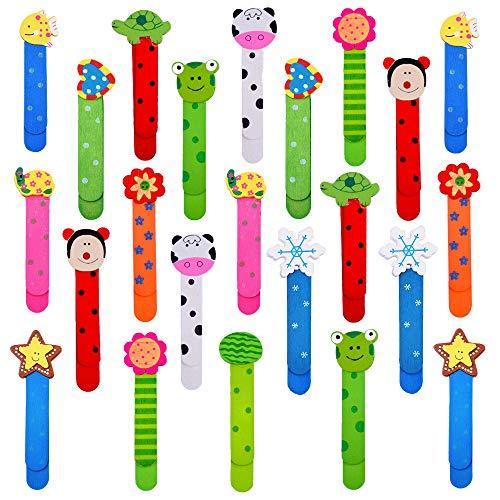 30pz Animali Segnalibro Bambini Fumetto Colorati Carini Divertenti in Legno Regalino Gadget Festa Compleanno Bambini per Bomboniera Battesimo Natale
