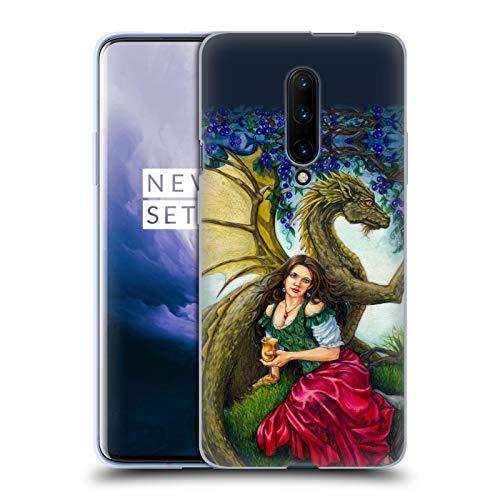 Head Case Designs Offizielle Jane Starr Weils Wein Drachen Göttern Soft Gel Huelle kompatibel mit OnePlus 7 Pro (Jane Drache)