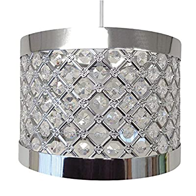 Moda Sparkly Ceiling Pendant Light Shade Fitting, Silver from Beamfeature