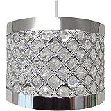 Lámpara Colgante de Techo de Sujeción Fácil con Pantalla Destelleante, Decoración Moderna (sin el soporte para el techo)