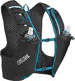 CamelBak Ultra Pro Vest Quick Stow Flask S Trinkrucksack, Black/Atomic Blue, 17 oz