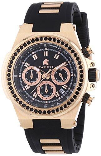 Carucci Watches - Orologio da polso, analogico automatico, caucciù, Donna