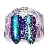 Boîte de poudre holographique, Sensail poudre scintillante arc-en-ciel avec pour décoration d'ongles (A)