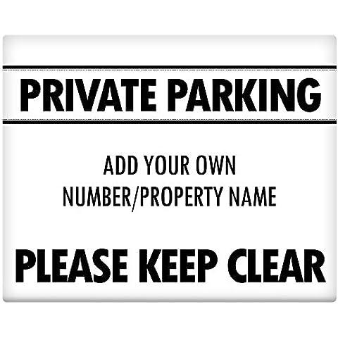 Personalised Parcheggio Privato Metal Sign 25,4x 20,3cm