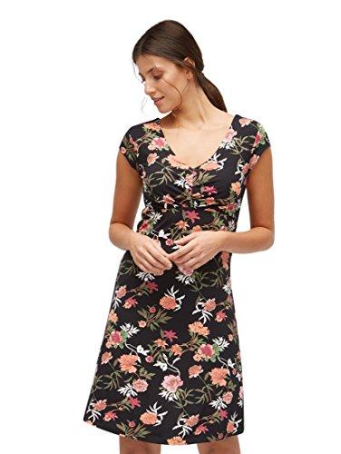 TOM TAILOR Frauen Kleider & Jumpsuits Jersey-Kleid mit Falten am Ausschnitt