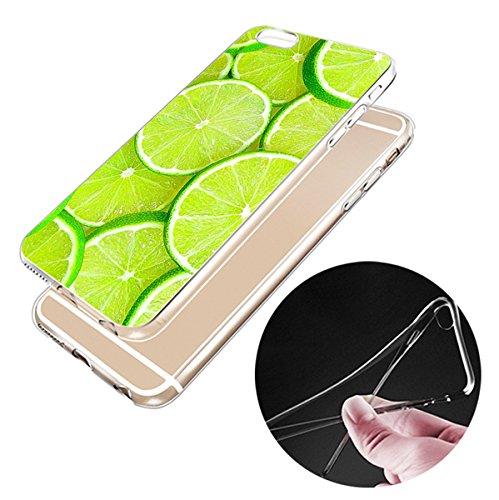 iPhone 6trasparente Cover Morbido Silicone Custodia TPU Limone Frutta modello Bumper Case Leggero Antigraffio stossdaempfende caso per il iphone 6/6S jg34