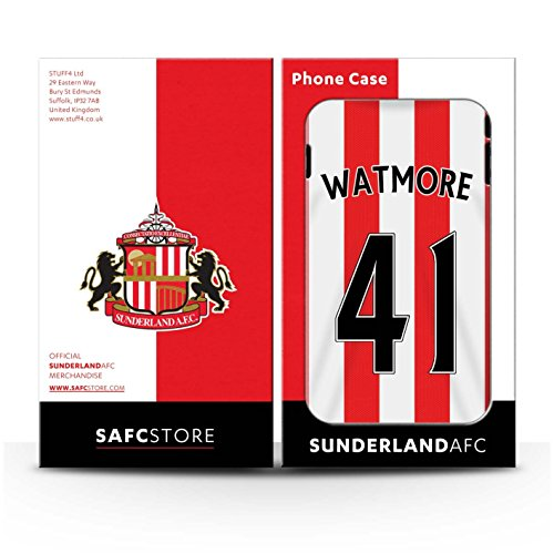 Offiziell Sunderland AFC Hülle / Case für Apple iPhone 4/4S / Larsson Muster / SAFC Trikot Home 15/16 Kollektion Watmore