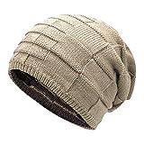 Leisial Unisexo-Adult Sombrero de Invierno Gorro de Punto Caliente Sombrero  al Aire Libre Doble aa98c303b8a
