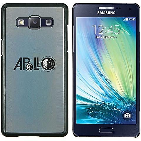 Cubierta protectora del caso de Shell Plástico    Samsung Galaxy A5 ( A5000 )    Apolo Luna Misión astronauta azul