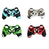 YTTL? 4 Pack of High Quality Premium Super Grip Silicon Protective Skin Case Cover for Sony Playstation 3 PS3 Remote Controller by YTTL