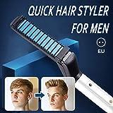 coflower Styler professionnel pour cheveux pour hommes, fer à friser, lisser le peigne pour salon de coiffure
