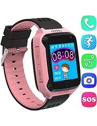 GPS Tracker Smartwatch Inteligente Relojes para Niños Niñas con cámara de Podómetro con Pantalla Táctil Llamadas