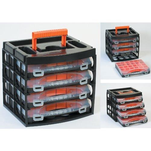 Preisvergleich Produktbild Sortimentskoffer Sortimentskasten mit 4 Organizern - 56100