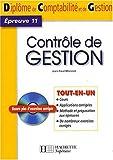 Contrôle de gestion DCG11 (1Cédérom)