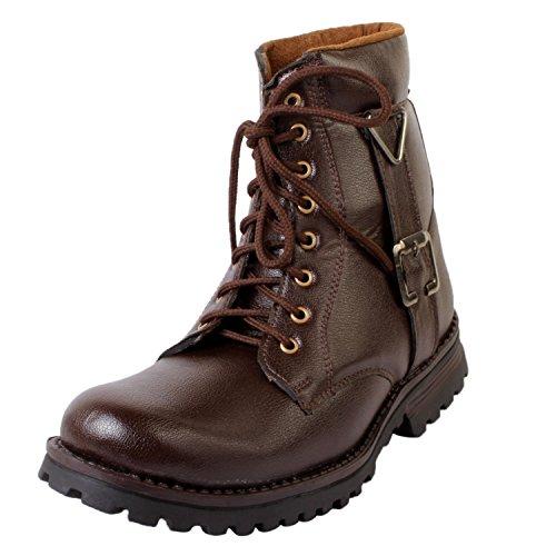 vogue stack men's black faux leather boots (10)
