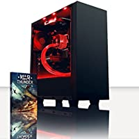 VIBOX Precision 6.120 Gaming PC Computer with War Thunder Game Voucher (4.0GHz AMD FX Quad-Core Processor, Nvidia GeForce GT 710 Graphics Card, 8GB RAM, 120GB SSD, 3TB HDD, No Operating System)