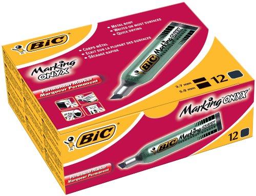 bic-onyx-marker-standard-1481-marqueur-permanent-pointe-biseau-corps-metal-encre-noire-indelebile-lo