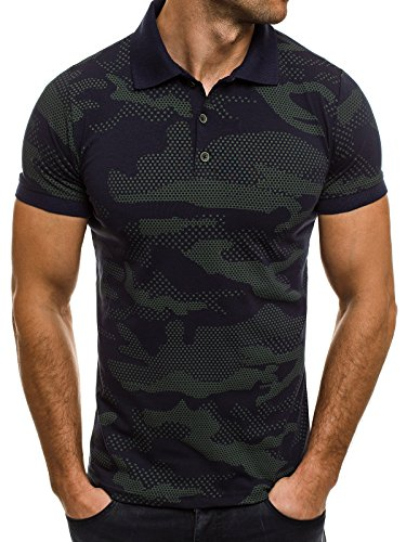 OZONEE Herren Herren Poloshirt Polohemd Polo T-Shirt Kurzarm Figurbetont ZAZZONI 1055
