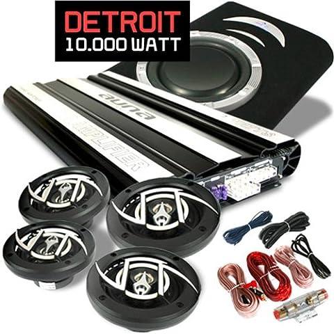 Car Hifi Set Detroit extremes 4.1 System Vollverstärker & Lautsprecherset