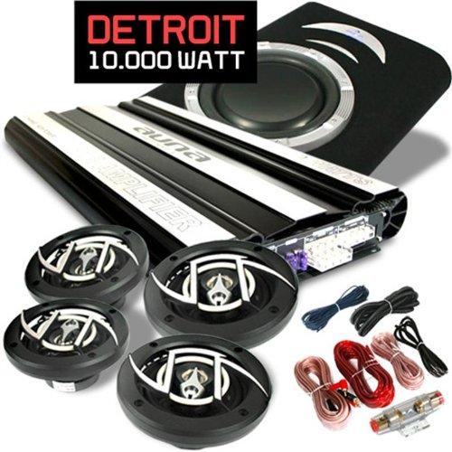 Car Hifi Set Detroit extremes 4.1 System Vollverstärker & Lautsprecherset 10000 Watt
