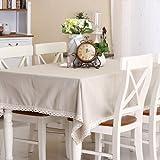 Solide minimalistischen skandinavischen Stil realen slick gewaschenen Leinentischdecke 6512-1