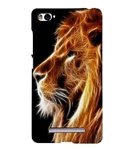 PRINTSWAG LION Designer Back Cover Case for XIAOMI REDMI MI4I