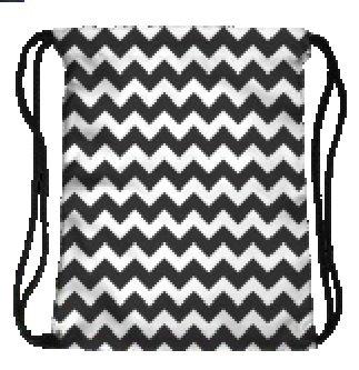 Hippie-Muster Tasche mit Kordelzug 3D bedrucktes Cinch Sport Gym Schwimmen Schule Rucksack, zig zag