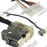 HP 14-AC, 14-AC000, 14-AC100, 14-AM, 14-AM000, 14-AM100, 14-AN000, 14-AQ, 14-AQ000, 14-AR, 14-AR000, 14-AR100, 14-AS, 14-AS000, 15-AC, 15-AC000, 15-AC100, 15-AC600,15-AF, 15-AF000, 15-AF100 DC Power Jack, Conector de Alimentación, Enchufe, Conector de puerto con el cable p/n: 799736-F57