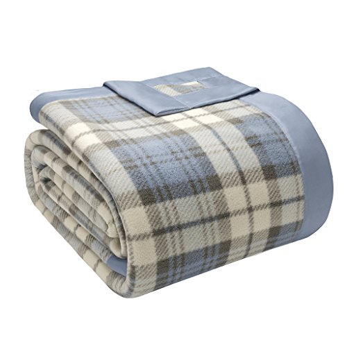 True North von Sleep Philosophie Micro Fleece Decke, King, blau Plaid (Micro King Decke)