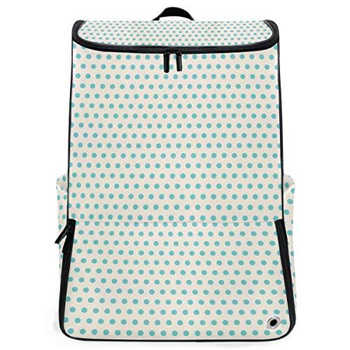 FANTAZIO Aqua Dots Muster Laptop Outdoor Rucksack Reise Wandern Camping Rucksack Pack Casual Groß College Schule Daypack - Casual Dots-muster