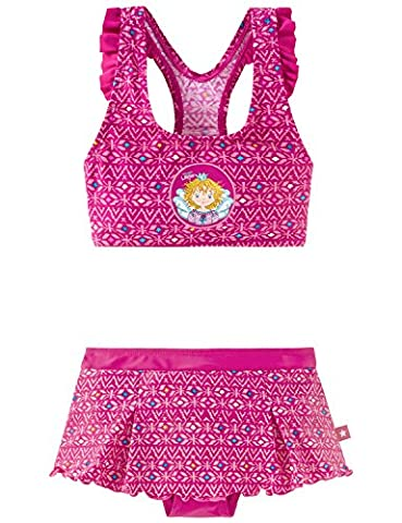 Schiesser Mädchen Bikini Aqua Prinzessin Lillifee Bustier - Bikini 155785, Gr. 128, Rot (fuchsia
