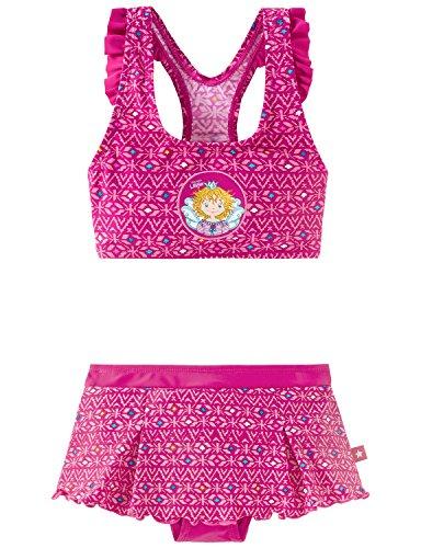 Schiesser Mädchen Aqua Prinzessin Lillifee Bustier-Bikini Rot (Fuchsia 508), 104 (Tankini Print Rio)
