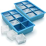 Best Ice Cube Trays With Covers - iGadgitz Home Silicone Ice Cube Tray 8 Extra Review