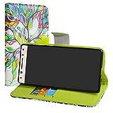 LiuShan Alcatel 5 Hülle, Brieftasche Handyhülle Schutzhülle PU Leder mit Kartenfächer und Standfunktion für Alcatel 5 Smartphone (mit 4in1 Geschenk verpackt),Love Tree