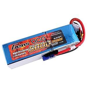 Gens Ace Batterie 5000mAh 22.2V 45C 6S Lipo Batterie Rechargeable pour Align GAUI KDS elyq trex-550600Airplane Jet Boat
