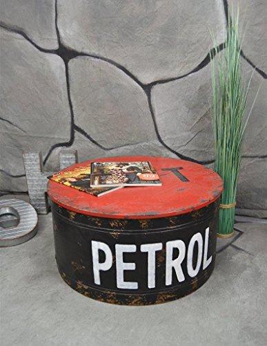 Livitat® Couchtisch Beistelltisch Metall Ölfass Vintage Industrie Look LOFT Shabby LV5021 - 2