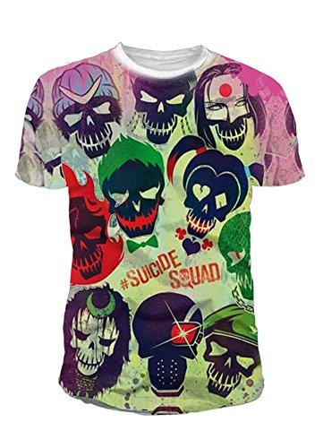 (DC Comics - Suicide Squad Herren T-Shirt - Sublimation Logo (Multicolor) (S-XL) (L))