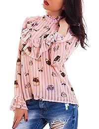 39bdc18c9d Toocool - Camicia donna velata righe gatti ruches maglia maniche lunghe  sexy nuova AS-2458