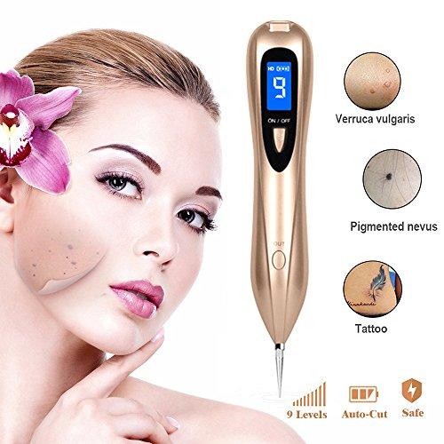 Preisvergleich Produktbild Maulwurf Entfernerstift 9 Stärke Level Spot Eraser Pro Maulwurf Tattoo Entferner Stift mit austauschbaren Nadeln und USB Ladekabel
