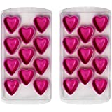Shunkk™ Heart Shaped Silicone Ice Trays - Pack Of 2 With 11 Ice Heart Molds With Easy Pop-Push Out LFGB/FDA Approved Ice Cube Muffin Pudding Mould Food Grade Silicone Plastic Stackable Ice Tray